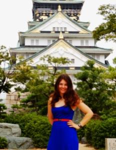 In front of Osaka castle in September...